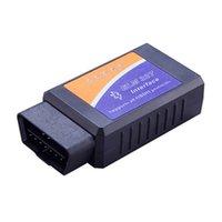 lector de código obd2 profesional al por mayor-Escáner de diagnóstico Herramienta del lector de códigos Accesorios para el automóvil Auto Profesional Auto Herramientas Chip Ethernet Para OBD Bluetooth OBD2 ELM 327