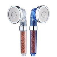 filtros cromados venda por atacado-Economia de alta pressão Handheld da água da cabeça de chuveiro do filtro do aníon dos 3-Function dos TERMAS