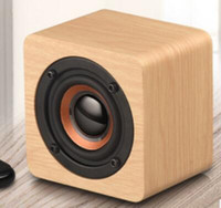 Wholesale mini bass cube resale online - Mini Wooden Bluetooth Speaker Portable Wireless Subwoofer Strong Bass Sound Box Music Magic Cube DHL
