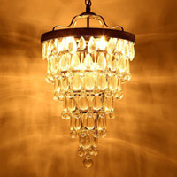 araña de gota de cristal vintage al por mayor-Retro vintage cooper crystal drops E14 arañas LED / LARGE European EMPIRE STYLE lustres chandelier Iluminación para sala de estar