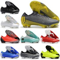 Wholesale vapor superfly resale online - Mens Low Ankle Football Boots Game Over Mercurial Vapors XII Elite FG Soccer Shoes Neymar ACC Superfly Vapors VII CR7 Soccer Cleats
