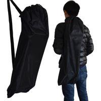 shouler handtaschen großhandel-New Adjustable Band Longboard Taschen Schwarz Long Board und fishboard Skateboard Rucksack Doppel Shouler Kordelzug Handtasche Tasche Rucksack