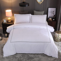 Wholesale super king size bedding sets for sale - Group buy Bedding set Pure color White Embroidery Super King Size Comfortable Duvet cover Pillowcase bedspread for home hotel Simple style
