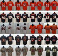 94e9ce164 Denver Football Men Broncos 58 Von Miller Jersey 30 Phillip Lindsay 55  Bradley Chubb 88 Demaryius Thomas Vapor Untouchable Salute to Service