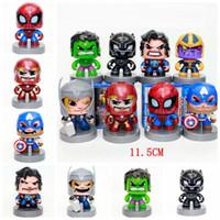 visage de l'homme de fer jouet achat en gros de-Marvel Vengeurs Capitaine Iron Man America Spider-Man Hulk Figurines d'action Slasher panthère noire Alliance 8