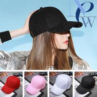 chapéus de painel de algodão em branco venda por atacado-Bonés de beisebol lisos do desenhista 5 painéis de Sun ajustáveis do algodão dos painéis para o tampão dos esportes das mulheres das mulheres dos homens