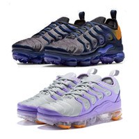 Wholesale violet boxes resale online - TN Plus Mens Women Running Shoes Smokey Mauve String Colorways Olive In Metallic Violet Triple Trainer Sport Sneakers With Box