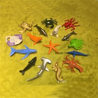 recoger muñecas al por mayor-Kids Ocean Toys 16PCS / Lot Ocean Figures Doll Mini Animals 5CM Collect Toy Envío gratis KT81450