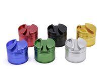 raucherbehälter groihandel-4 Schichten Aluminiumlegierung Grinder 75mm Grinder Smoking Tobacco Crusher für Twisty Glass Blunt mit Container und Rollpapierhalter