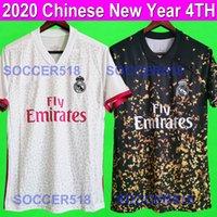 kits chineses venda por atacado-Camisas de futebol do Real Madrid 2020 2021 camisas de futebol brancas 2020 Ano Novo Chinês quarta 4ª kit camisas de futebol PERIGO DE ligt DYBALA