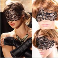 Wholesale hollow masks resale online - Creative fun couple flirt eye mask fancy dress sexy black hollow lace masks