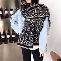 bufandas gruesas de invierno para hombres. al por mayor-Nueva bufanda de lana de invierno bufanda de diseño bufanda de moda de alta calidad hombres y mujeres bufanda de cachemira de imitación gruesa, 180 * 70 cm