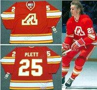 ingrosso ritorno al hockey-Personalizzato WILLI PLETT Atlanta Flames 1977 CCM Vintage Throwback Away Hockey Jersey