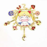 Wholesale anime wand resale online - Anime Sailor Moon Shielded Star Charms Bracelets Black Cats Pink Sakura Flower Bracelet Magic Wand Cuff Wings Heart Love Bracelets