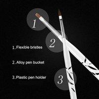 caneta padrão venda por atacado-8 Padrão Pcs Zebra UV Gel Pen Escova Nail Art Escova Pen Pontilhando Desenho Pinte Salon Tool Set MV99