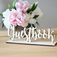 Wholesale wood gifts for sale - New Cute Wooden Guestbook Sign Wedding Decor Freestanding Sign Decoration DIY Gift Wood Color Fashion Party Favor