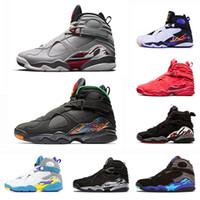 sevgililer günü mens toptan satış-2019 Beyaz Aqua Raid Kırmızı 8 VII 8 s erkekler Basketbol Ayakkabıları 3 M Yansıtıcı sevgililer Günü Krom GERÇEKLEŞTİRMEN PAKETI erkek açık Spor Sneakers 8-13