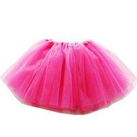 ingrosso abiti di giacca di balletto-Ragazze Tutu Skirt 2019 Estate Toddler Boutique a pieghe Mini Gonne Party Costume A-Line Balletto Abiti per bambini 19 colori