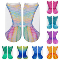 ingrosso o scala-3D Animal Mermaid calzini Cosplay scala di pesci stampati calzini per i figli maggiorenni casa calza calda 14 stili MMA1521-6