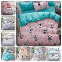 Wholesale aqua blue bedding sets for sale - Group buy Panda Pattern Duvet Cover Bedding Set Kids Soft Cotton Bed Linens x200 m m m m Single Twin Queen Size