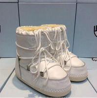 yeni kürk botları toptan satış-Yeni Kış Büyük Göz Kar Botları Kürk Bayan Ayakkabı Yüksek top Koyun Derisi Bayanlar Kürk Çizmeler Sıcak Boot