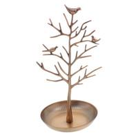 jóias árvore rack venda por atacado-Mulheres Vogue Pássaro Árvore de Exibição de Jóias Brinco Colar Titular da Jóia Show Rack Mostrando Prateleira Pulseira Titular Rack de Exibição
