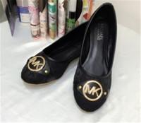 hochwertige schuhe mit niedrigem absatz großhandel-Mode Luxus Designer Damen Schuhe Komfortable Stickerei Frauen mit Niedriger Ferse Metall Schnallen Flache Sohle Einzelne Schuhe Luxus Qualität Mode