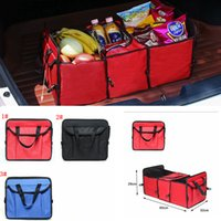 Wholesale vehicle organizer storage for sale - Group buy 3styles Foldable Vehicle Storage Bag Car Truck Organizer Basket toy sundries Container With Cooler And Insulation Car Organizer FFA2176