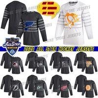 números do hóquei venda por atacado-2020 All Star St. Louis Blues Hockey 90 Ryan O'Reilly 50 Binnington 16 Marner 34 Matthew qualquer equipe qualquer número qualquer jérseis dos