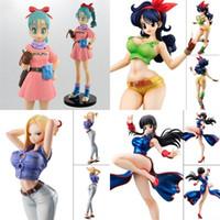 Wholesale clear balls online - Anime Dragon Ball Girl Series Toy Lan Qi Wukong Wife Kiki Bulma Artificial Man Model Doll Hot Sale hja I1