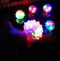 burbujas de plástico ups al por mayor-Intermitente anillo del partido del delirio de la burbuja del centelleo suave jalea resplandor de LED se encienden los niños favor de partido de regalo de plástico anillo 100pcs / lot FFA3475