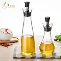 ingrosso vasetti di aceto di oliva-Accessori per la cucina Aceto / salsa / olio Condimento Conservazione Bottiglia di vetro Barattoli di olio a prova di perdite con coperchio 250ml 500ml