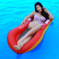 Wholesale pvc beds online - PVC Eco Friendly Inflatable Floats Security Solid Floating Water Bed Summer Beach Adult Mesh Cloth Good Stability Thickening lsI1