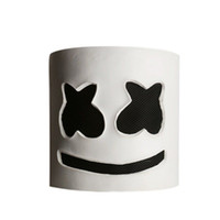 Wholesale material mask resale online - Party EL Halloween Marshmallow Dj Headgear Marshmello Headgear Mask Latex Material Full Head Helmet Mask Bar Music Party Props Mask