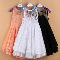 şeffaf giyinmiş kızlar toptan satış-Kızlar Elbiseler Çocuklar Giysi Pembe Kızlar Backless Dantel Elbise Yaz Çocuk Giyim Şeffaf Seksi Yaz Prenses Elbise Tutu Etek