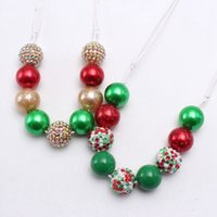 Wholesale candy bead necklace resale online - Christmas Girl Necklace Kids Colorful bubble beads Necklace Candy beads Sweet Girl Charms Necklace Gift Styles
