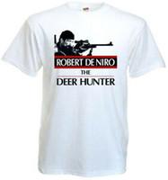 Wholesale black red poster online – design The Deer Hunter v5 T shirt white movie poster all sizes S XL
