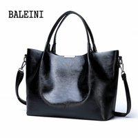 ingrosso grandi sacchetti di design marrone-2020 estate nuove donne di stile della borsa del Tote indietro Borsello in pelle grande marca Nero Marrone Casual Designer femminile Bolsas
