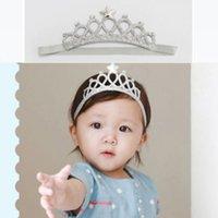 analık baş bantları toptan satış-Bebek Kafa Analık Çocuk Çocuk Saç Aksesuarları Bebek Güvenliği Saç Bandı Bebek 100 Gün İlk Doğum Günü Taç Takı