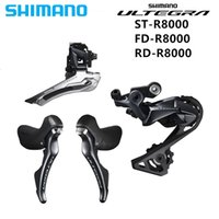 bicicletas de carretera grupo ultegra al por mayor-Shimano ULTEGRA R8000 Groupset 2x11S ROAD Desviadores de bicicleta FD R8000 + RD R8000 + ST R8000
