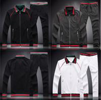 ingrosso velluto invernale da tuta-hot fashion brand designer di lusso classico Compound velluto stripe tuta invernale designer bianco nero giacca tuta M-3XL