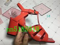 Wholesale factory price sandals for sale - Group buy 2019 new plain soft leather platform sandals women s lotus high heels sandals women s shoes factory lowest price