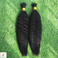 Wholesale braided wefts for sale - Group buy Black Color Deep Wave Human Hair Bulk for Braiding Bundles Mongolian Hair Bulk for Braiding No Wefts Raw Hair