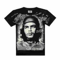 guevara do che camisetas venda por atacado-Camisa dos homens T hip hop impresso balancim AC DC crânio skeletontai chi dragão chefe indiano crim reaper crânio bruxa águia che guevara ghost rider