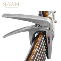 guitarra acústica capo trigger al por mayor-NAOMI Aroma AC-01 Guitar Capo Aroma Premium Metal Capo Guitarra eléctrica acústica Accesorios de guitarra de estilo color plata