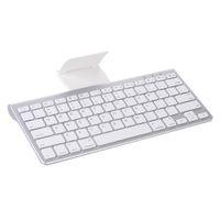 teclado iphone bluetooth ipad venda por atacado-Mini Teclado Bluetooth Sem Fio Ultra-Slim Tablet Telefone Teclado para iPad iPhone Android Smartphone Tablet
