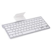 teléfono con teclado iphone al por mayor-Mini teclado inalámbrico Bluetooth Teclado ultra delgado de la tableta del teléfono para iPad iPhone Android Smartphone Tablet