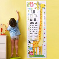 Wholesale height wall stickers for sale - Group buy Children s height wall stickers living room cartoon baby ruler animal home decoration removable stickers