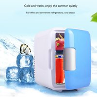 Wholesale used refrigerators resale online - 4L Car Refrigerator Car Portable Dual Use Refrigerator Heating And Cooling Box With Cup Holder Professional