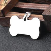 köpek etiketlerini tasarla toptan satış-Paslanmaz Çelik Boş anahtarlık 40 * 21mm Pet Kimlik Etiketleri Kişiselleştirilmiş Köpek Etiketler Kedi Etiketleri Kazınmış Olabilir Ön Geri Anahtarlık Tasarım Takı